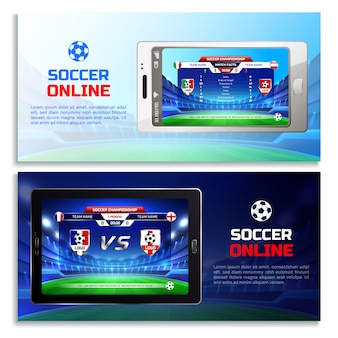 Voetbal online uitzending banners