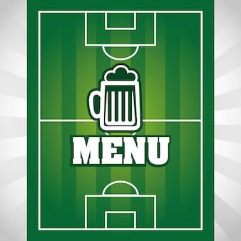 Voetbal ontwerp over grijze achtergrond vectorillustratie