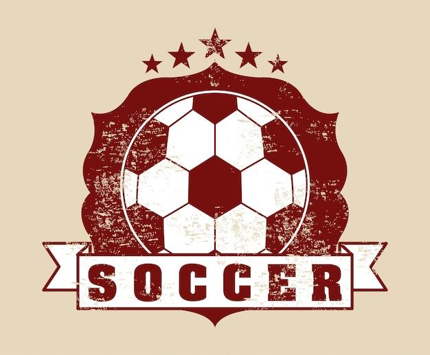 Voetbal ontwerp over roze achtergrond vectorillustratie