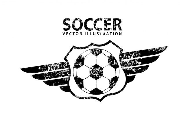 Voetbal ontwerp over witte achtergrond vectorillustratie