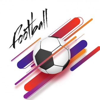Voetbal op abstracte achtergrond.