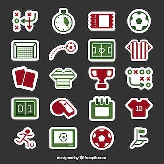 Voetbal pictogrammen