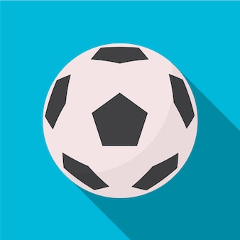 Voetbal platte pictogram illustratie geïsoleerde vector teken symbool