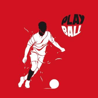 Voetbal plons