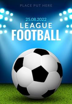 Voetbal poster of flyer-sjabloon