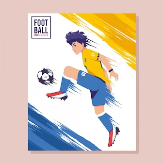 Voetbal poster platte ontwerp illustratie
