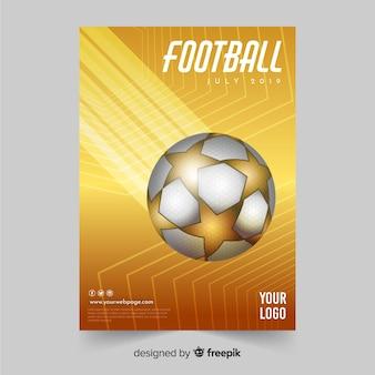 Voetbal poster sjabloon of flyer ontwerp