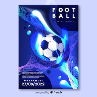 Voetbal poster toernooisjabloon