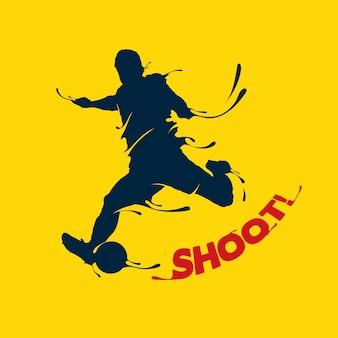 Voetbal schieten splash