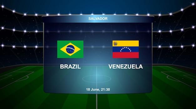 Voetbal scorebord uitzending afbeelding