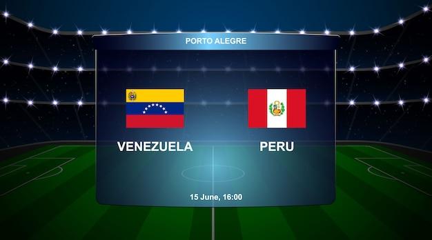 Voetbal scorebord uitzending