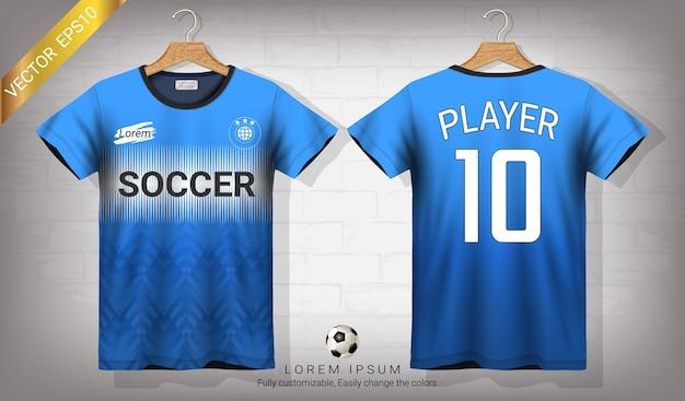 Voetbal shirt en t-shirt sport mockup sjabloon
