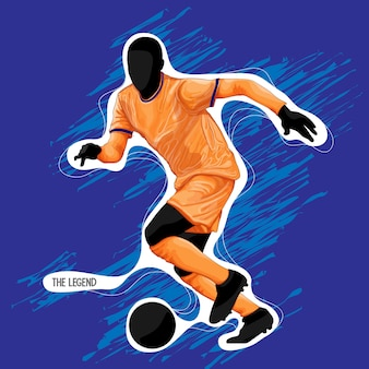 Voetbal silhouet