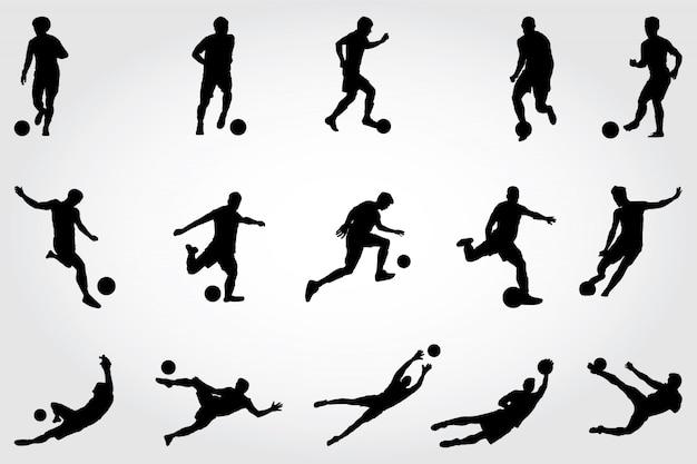 Voetbal silhouetten