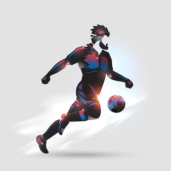 Voetbal snel dribbelen