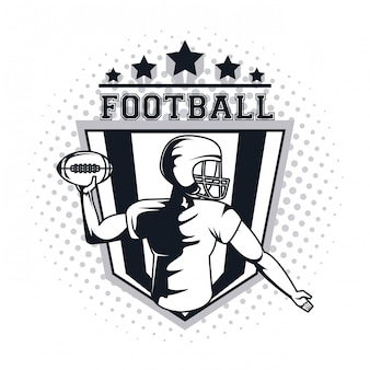 Voetbal speler pictogram