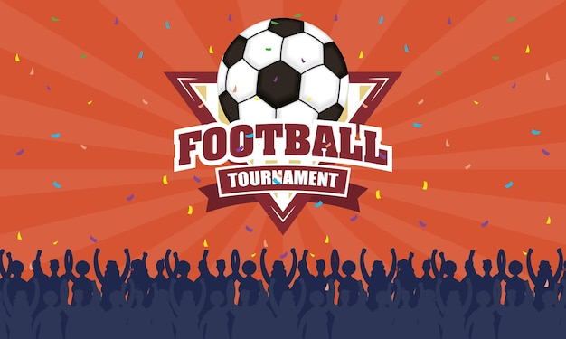 Voetbal sport embleem in poster