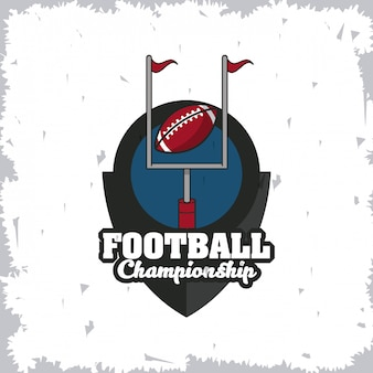 Voetbal sport kampioenschap toernooi embleem