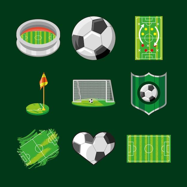 Voetbal sport pictogrammen soccer