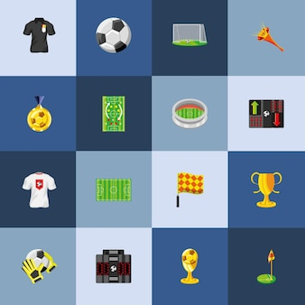 Voetbal sport set