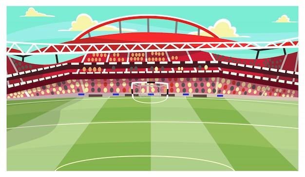 Voetbal stadion illustratie