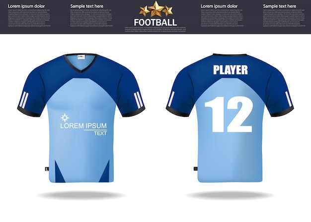 Voetbal t-shirts ontwerpsjabloon voor voetbal