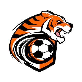 Voetbal tiger team logo