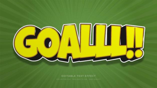 Voetbal typografie bewerkbaar teksteffect