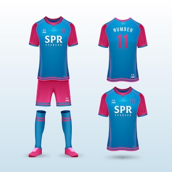 Voetbal uniform