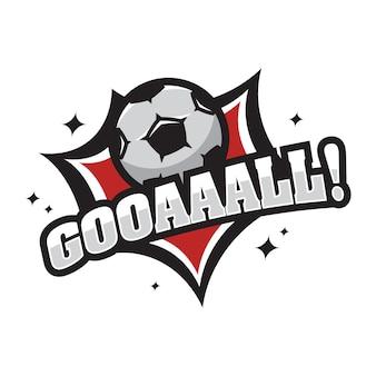 Voetbal vector logo pictogram illustratie