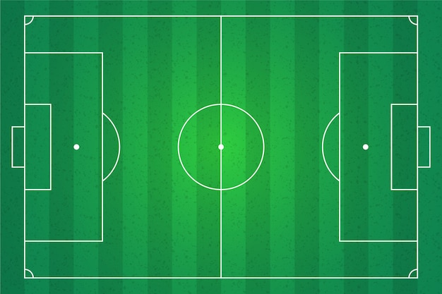 Voetbal veld illustratie