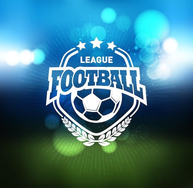Voetbal voetbal badge logo ontwerpsjabloon