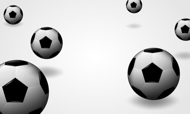 Voetbal voetbal bal ontwerp achtergrond