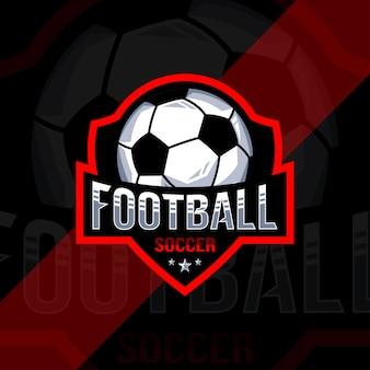Voetbal voetbal kampioenschap logo ontwerp