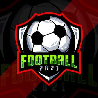 Voetbal voetbal logo ontwerpsjabloon