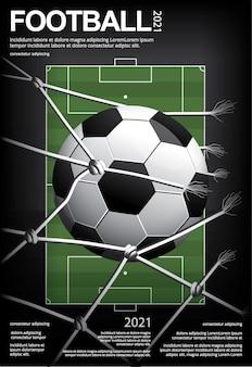 Voetbal voetbal poster illustratie