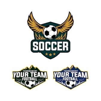 Voetbal / voetbal sport logo ontwerp