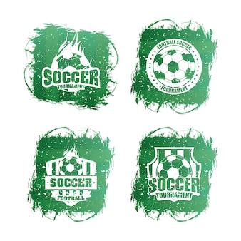 Voetbal voetbal sport logo's instellen
