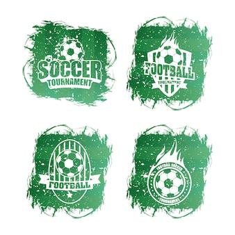 Voetbal voetbal sport logo's