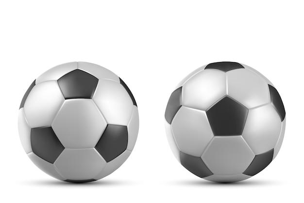Voetbal, voetbalbal op wit wordt geïsoleerd dat