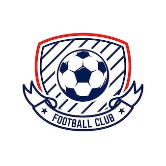 Voetbal, voetbalemblemen. ontwerpelement voor logo, etiket, embleem, teken.