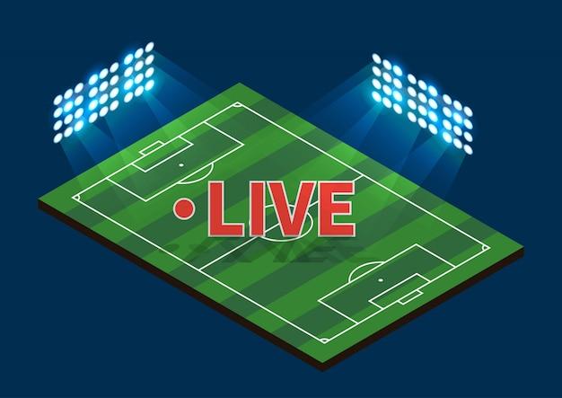 Voetbal voetbalveld