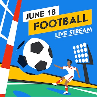 Voetbal webbanner