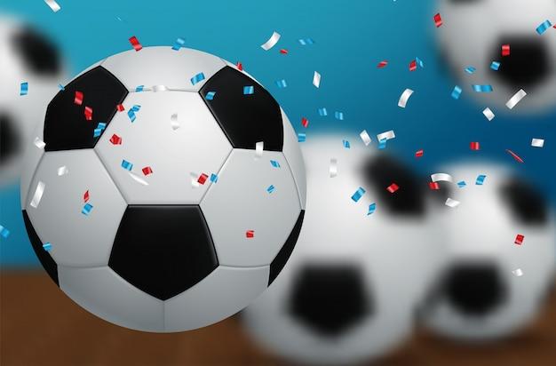 Voetbal wereldkampioenschap cup achtergrond voetbal