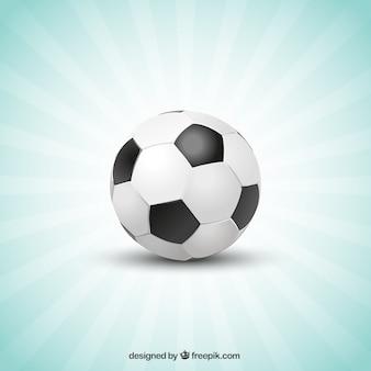 Voetbal zonnestraal sjabloon