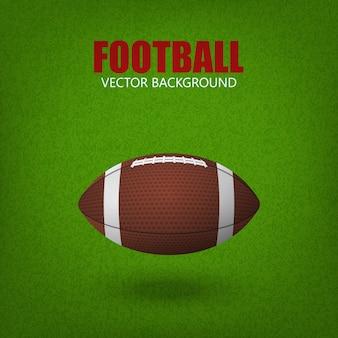 Voetbalbal op een grasgebied.