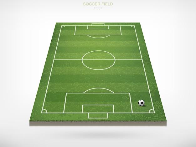 Voetbalbal op voetbalgebied.