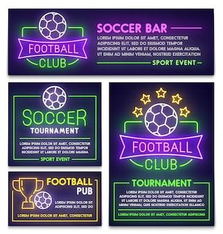 Voetbalclub poster, flyer en spandoek sjabloon