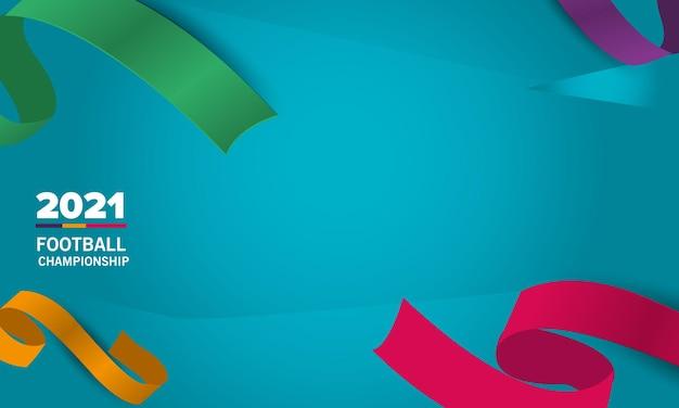 Voetbalcompetitie. banner met kleurrijke linten