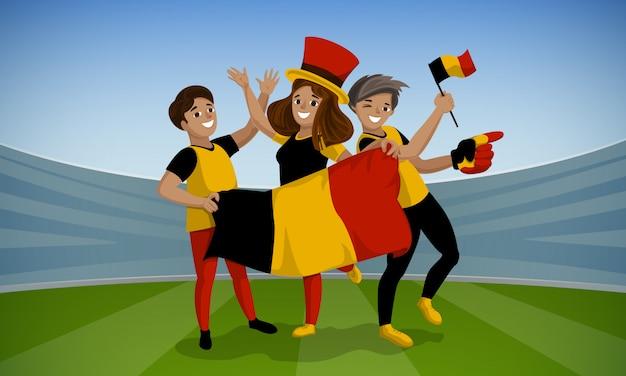 Voetbaldag concept achtergrond. cartoon illustratie van voetbaldag